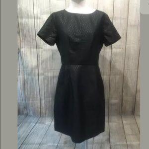 ☀️ Madewell Dress sz 0 black shiny knee length